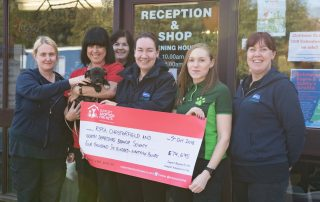 Adoption for Pets cheque presentation