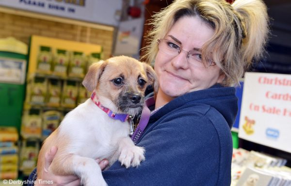 Chesterfield and North Derbyshire RSPCA. Kim Bestwick with Nini.